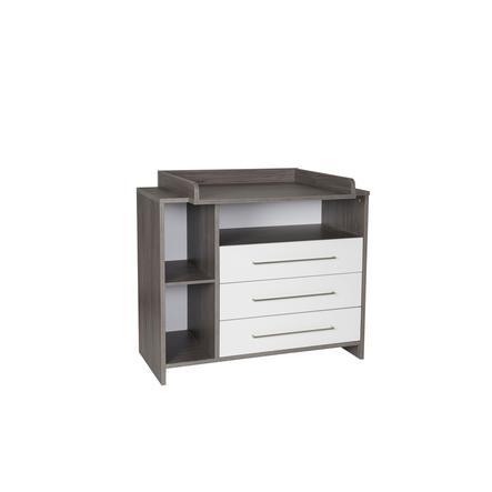 SCHARDT Commode à langer avec table à langer ECO FLEETWOOD, blanc/couleurs bois