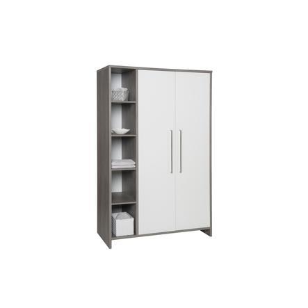 SCHARDT Armoire 2 portes ECO FLEETWOOD, blanc/couleurs bois
