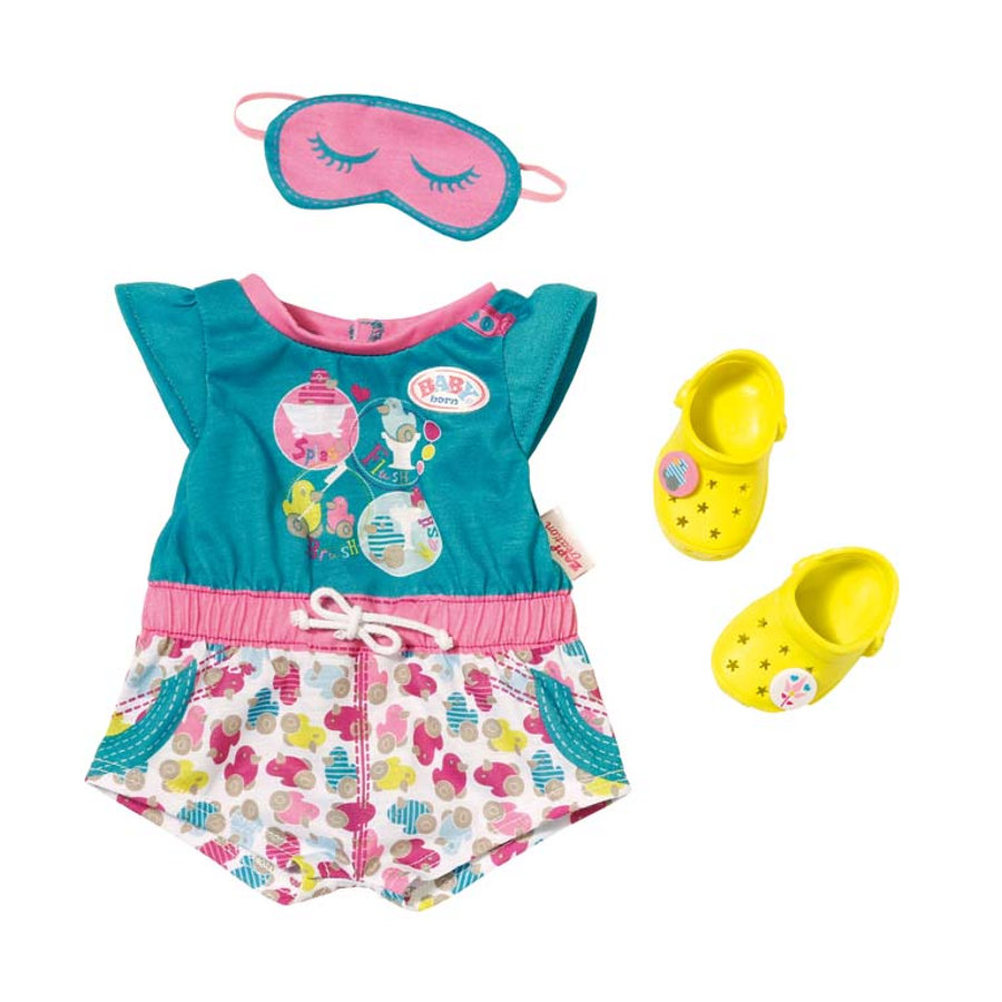Zapf Creation Baby born® - Shorty Pyjama mit Clogs