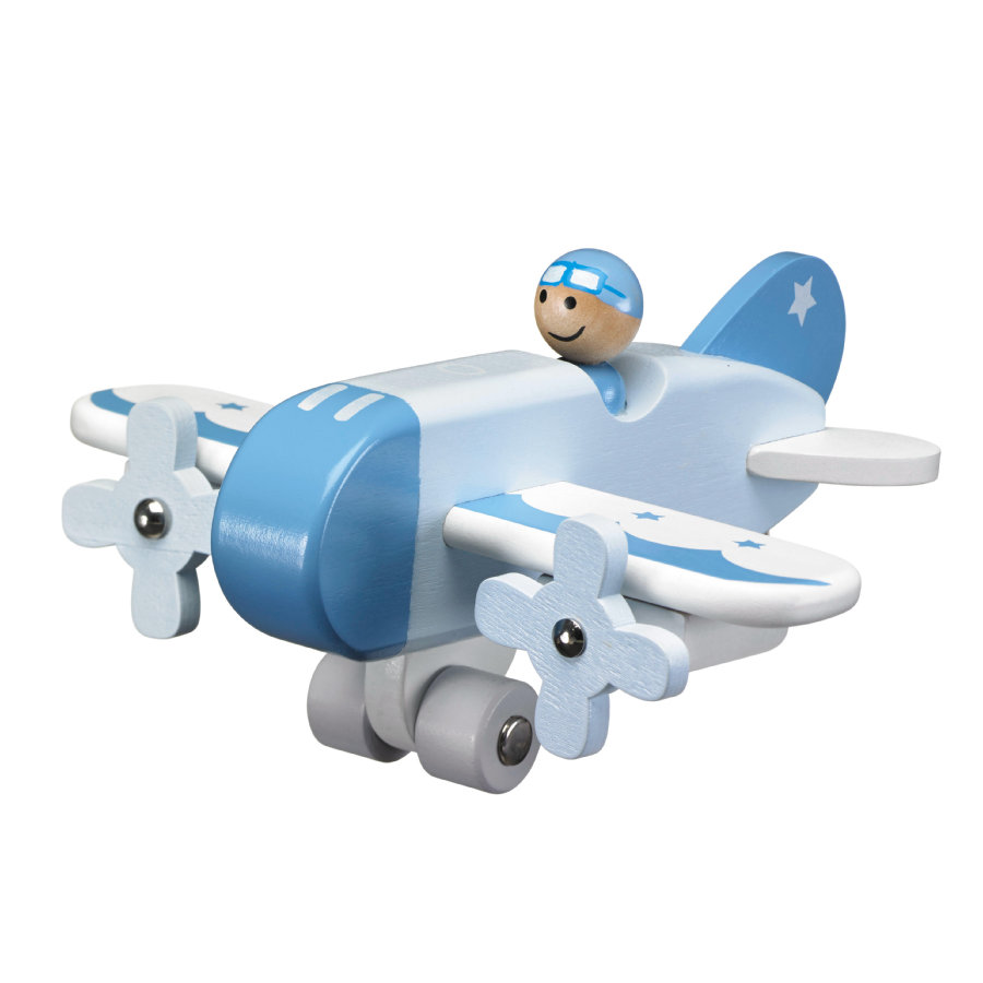 KIDS CONCEPT Avion, bleu