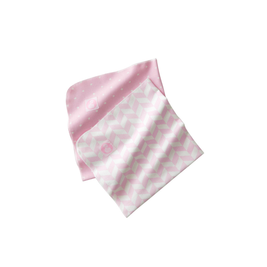 KIDS CONCEPT Flanellsnuttar rosa