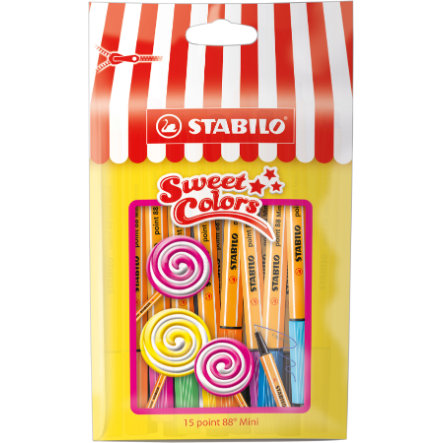 STABILO point 88 Mini Sweet Colors etui 15 stuks