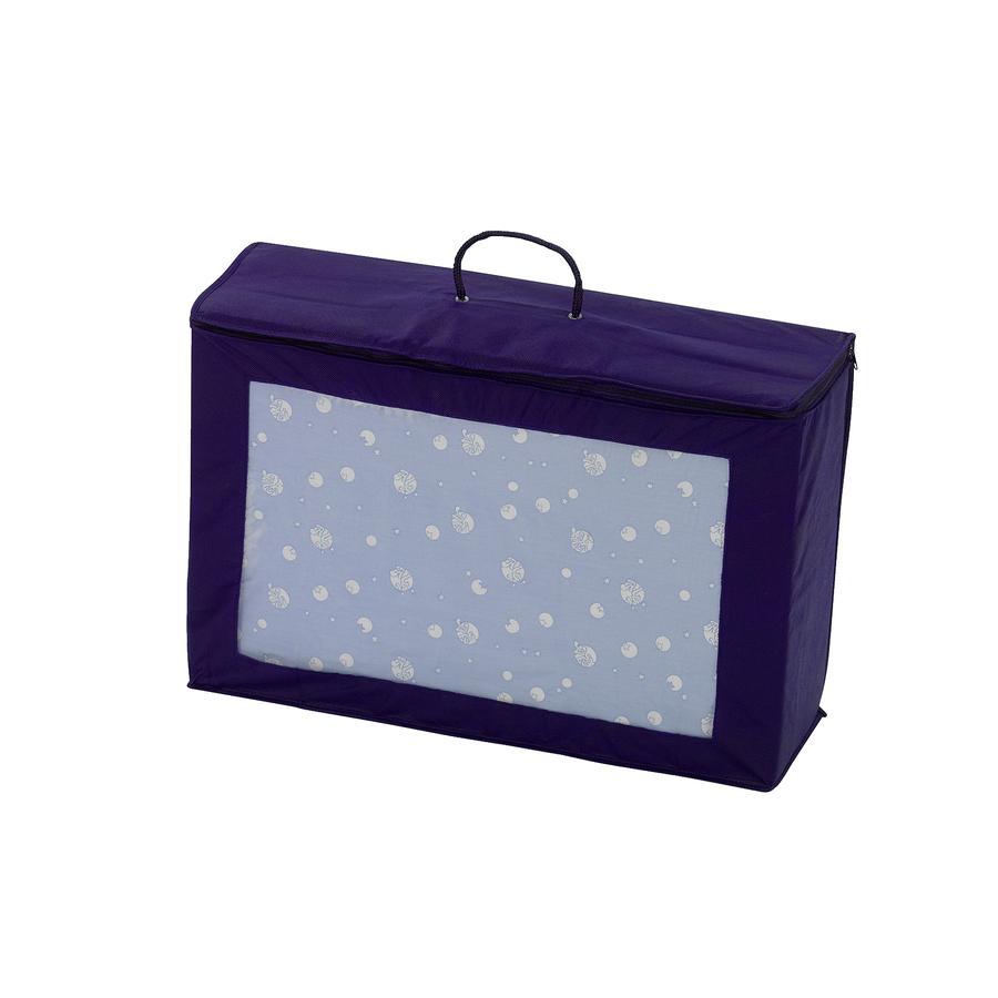 Alvi® Matelas de lit parapluie, bleu, sac de transport, 60x120 cm