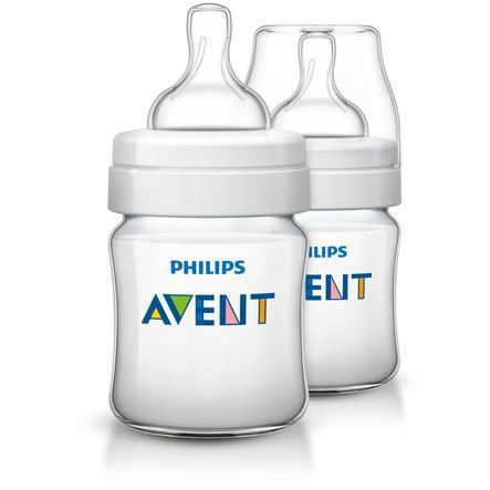 Philips AVENT Lot de 2 Biberons anti-coliques Classic, 125 ml SCF560/27