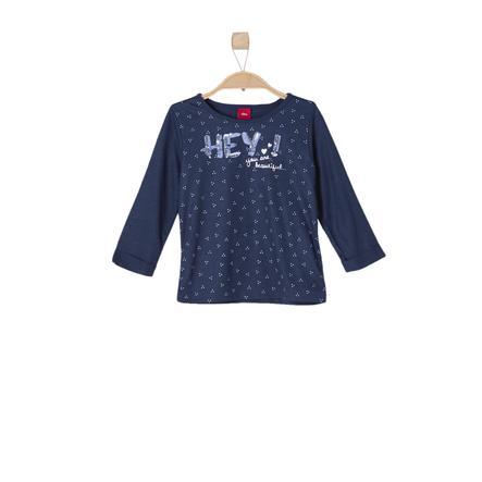 s.OLIVER Girls Tričko s dlouhým rukávem dark blue