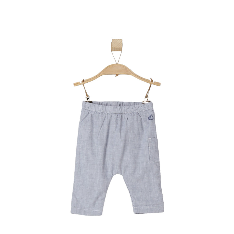 s.OLIVER Boys Pantalón de cuadros azul