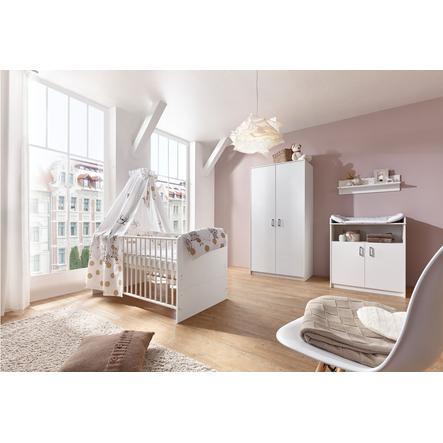 SCHARDT Set cameretta neonato con armadio a 2 ante CLASSIC WHITE