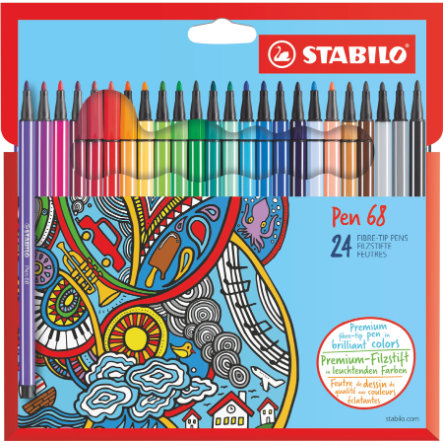 STABILO Pen 68 24-pack Filtpennor