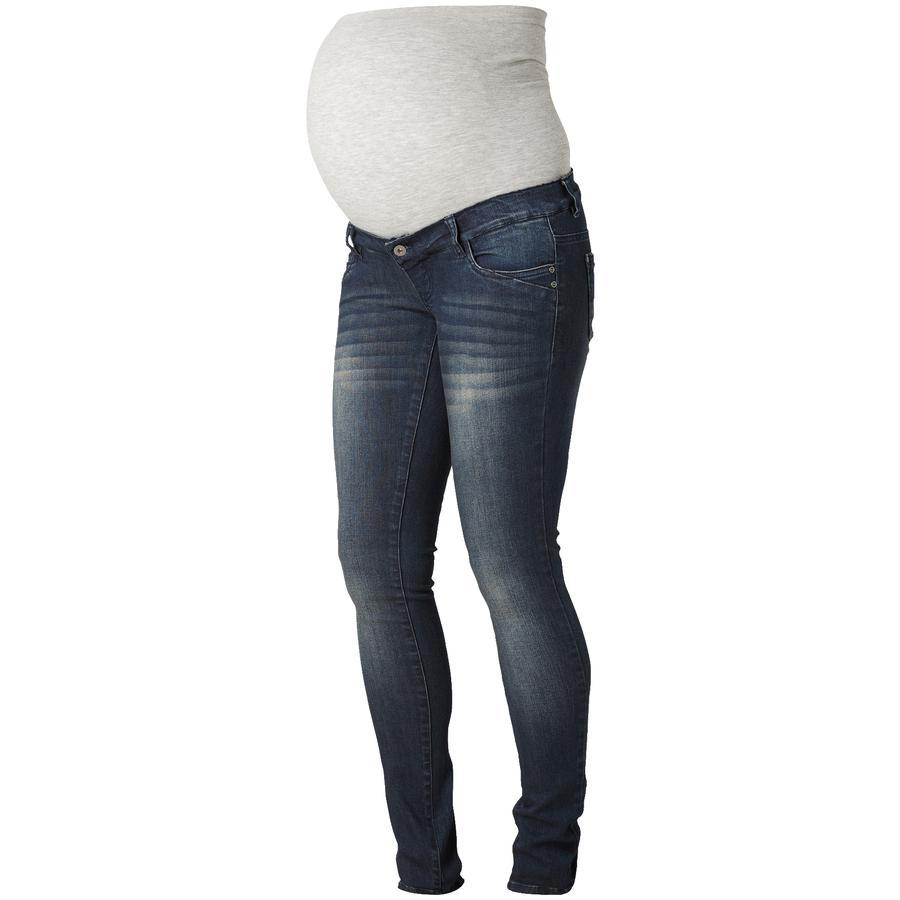 MAMA LICIOUS Spodnie dla kobiet w ciąży Blue 34