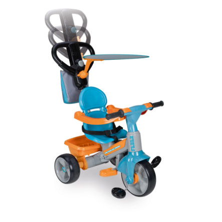 FEBER Tricycle Trike Baby Plus Music, bleu/orange
