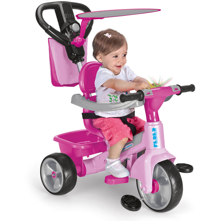 FEBER Tricycle Trike Baby Plus Music, rose