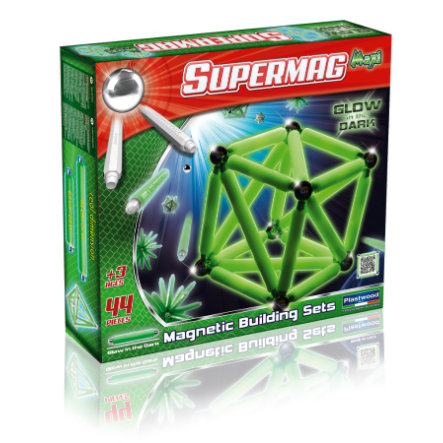 PLASTWOOD SUPERMAG Maxi - Glow in the Dark 44 delar