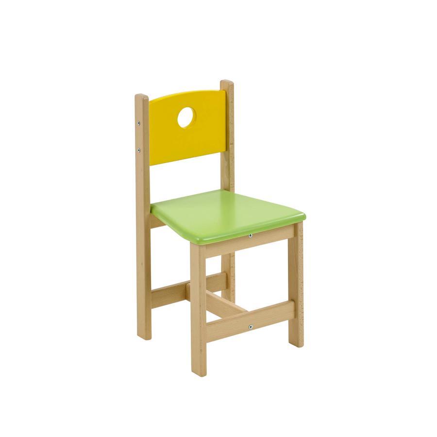 GEUTHER Dětská židle PEPINO - přírodní/žlutá/zelená