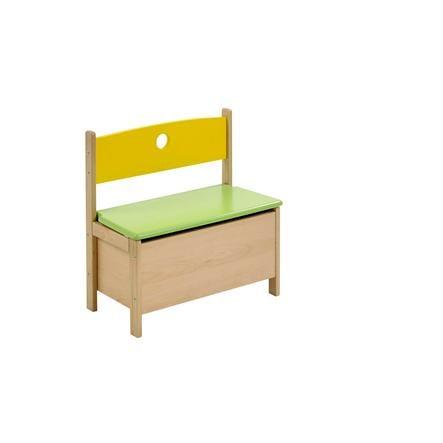 GEUTHER Dětská lavička PEPINO - přírodní/žlutá/zelená