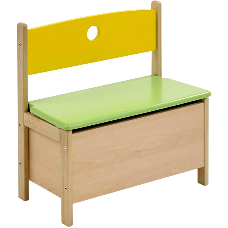 Geuther Kindertruhenbank Pepiono natur / gelb / grün