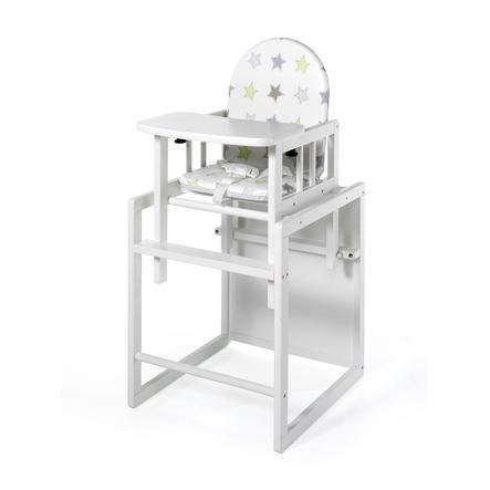 geuther Chaise haute évolutive Nico, Étoiles, blanc 032
