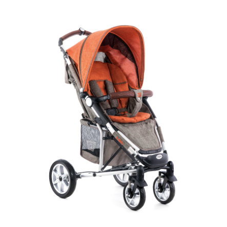 MOON Wózek spacerowy Flac Design 975 brown orange melange