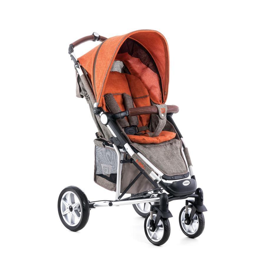 MOON klapvogn Flac Design 975 brown orange melange