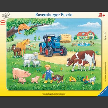 RAVENSBURGER Rahmenpuzzle - Sommer auf dem Bauernhof, 10 Teile