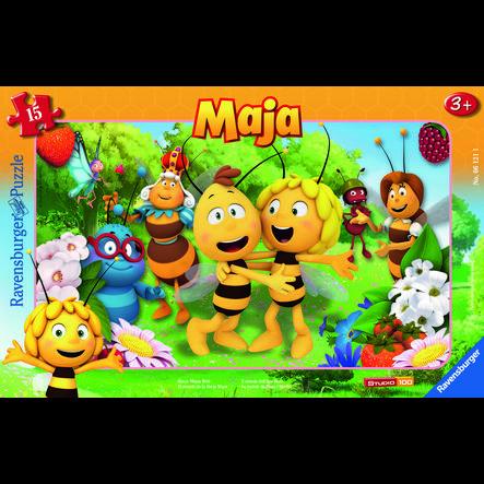 RAVENSBURGER Rámové puzzle - Svět včelky Máji, 15 dílů