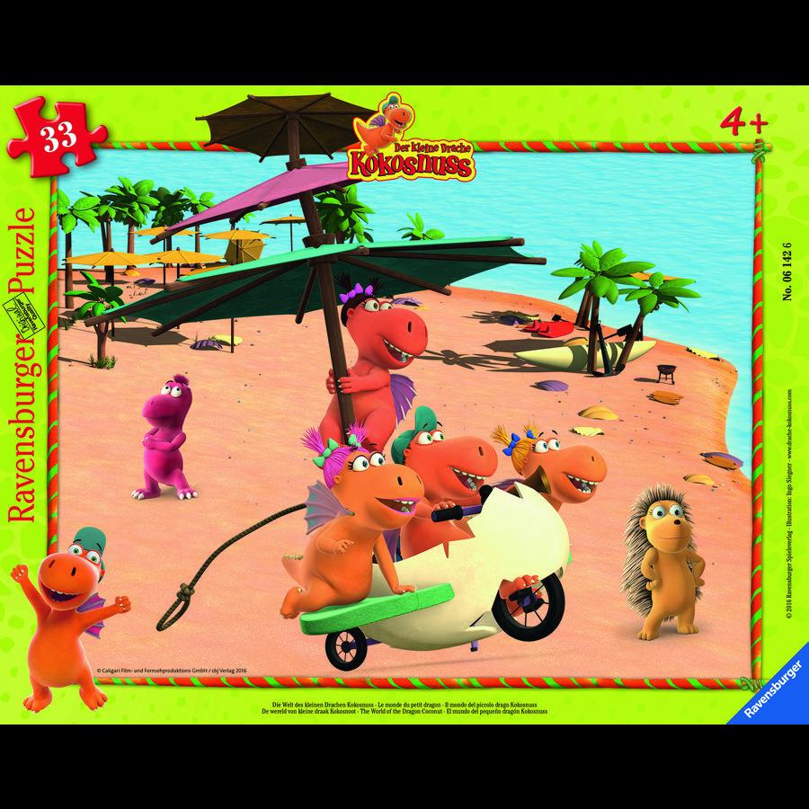 RAVENSBURGER Rahmenpuzzle - Drache Kokosnuss und seine Freunde, 33 Teile