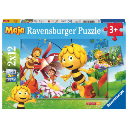 RAVENSBURGER Puzzle 2x12 Teile  - Biene Maja auf der Blumenwiese