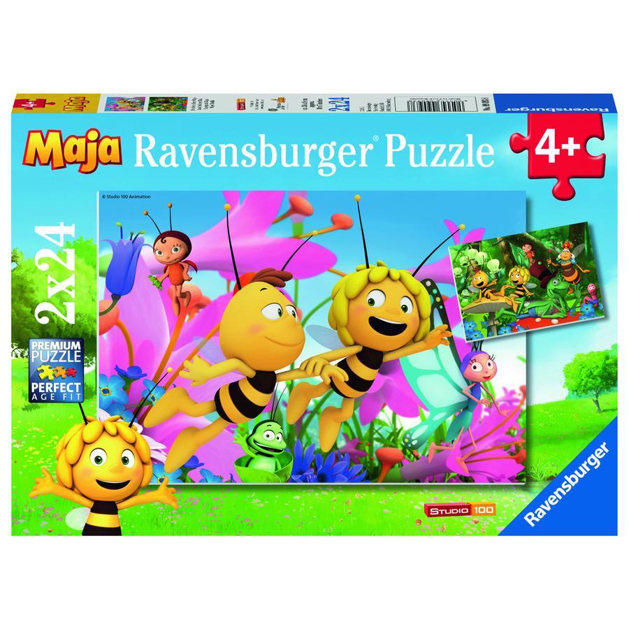 RAVENSBURGER Puzzle 2x24 elementów Pszczółka Maja