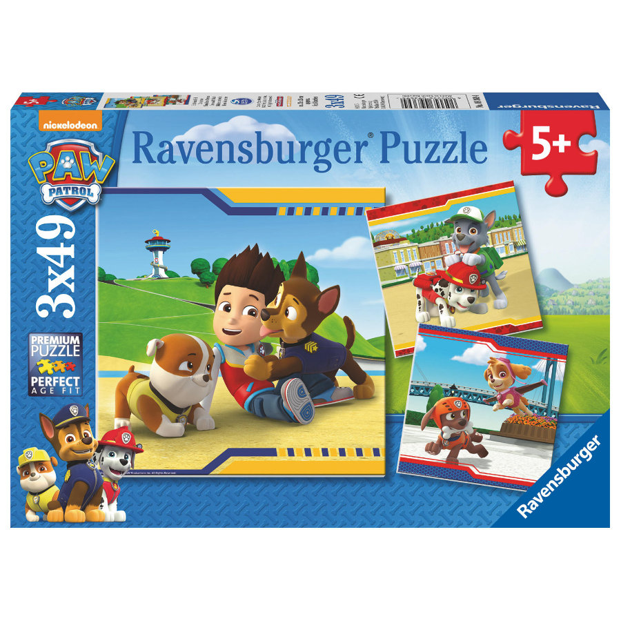 Ravensburger Puzzle 3 x 49 stykker Paw Patrol: Heroes with fur