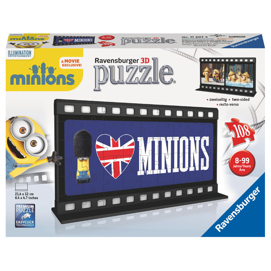 RAVENSBURGER 3D Puzzel Minion Film - Great Britain