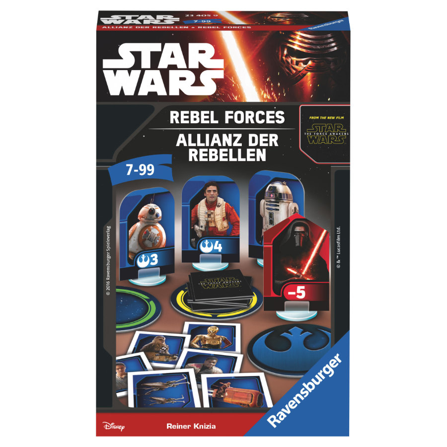 RAVENSBURGER Mitbringspiel STAR WARS VII Allianz der Rebellen