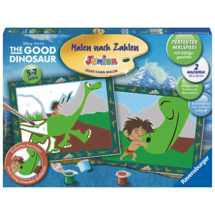 RAVENSBURGER Malen nach Zahlen Junior - Disney/Pixar The Good Dinosaur