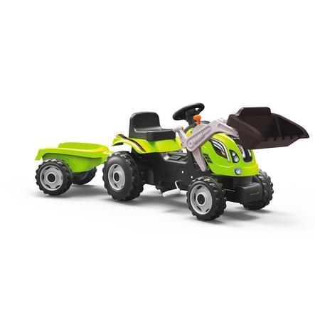 SMOBY Traktor Farmer XL grøn med frontskovl og anhænger