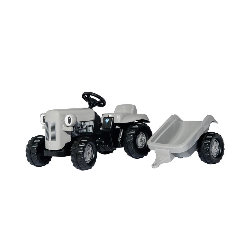 ROLLY TOYS trattore modello Little Grey Fergie con rimorchio Trailer 014941, grigio