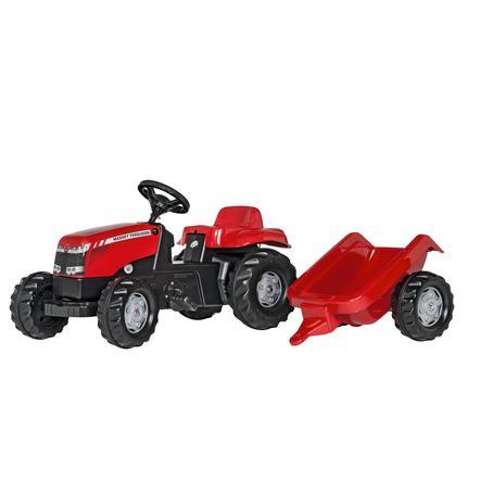 ROLLY TOYS rollykid MF Traktor z przyczepą rollyKid Trailer 012305