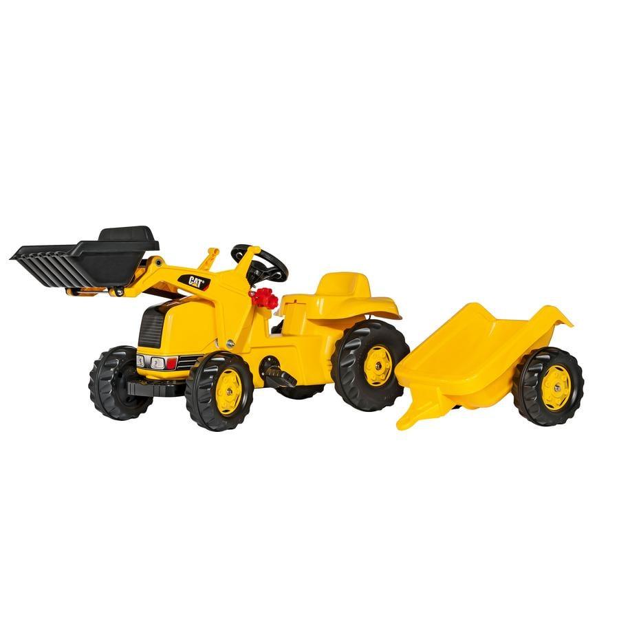 ROLLY TOYS rollyKid Traktori peräkärryllä ja etukauhalla CAT 023288