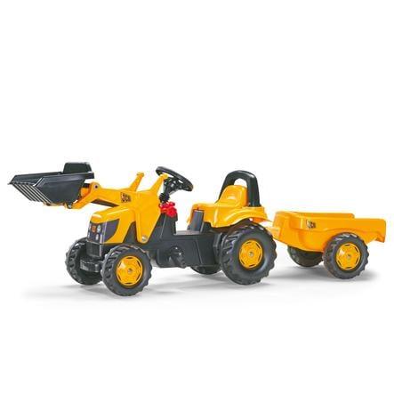 ROLLY TOYS šlapací traktor rolly Kid JCB s přívěsem a  nakladačem