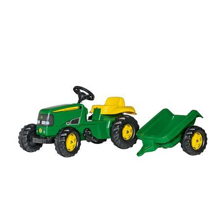 ROLLY TOYS rollykid John Deere Traktor z przyczepą rollyKid Trailer 012190
