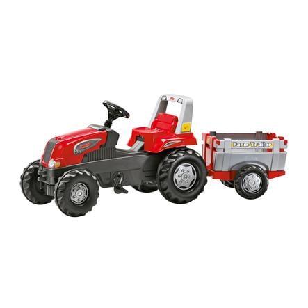 ROLLY TOYS šlapací traktor Rolly Junior RT s vlečkou červeno-šedý 800261