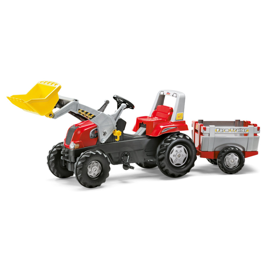 ROLLY TOYS rollyJunior RT Traktor s rollyJunior Nakládačem a rollyFarm Přívěsem 811397