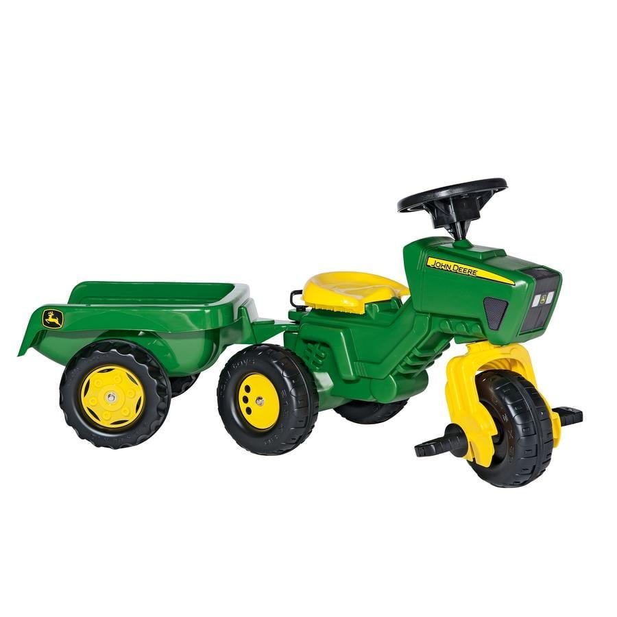 ROLLY TOYS trattore  John Deere con rimorchio e volante sonoro 052769