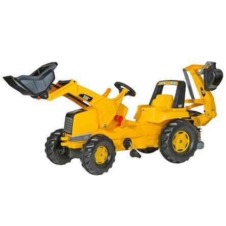 ROLLY TOYS trattore Junior CAT con escavatore frontale e ruspa posteriore rollyBackhoe 813001