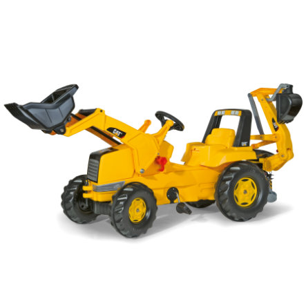 rolly®toys Tracteur enfant rollyJunior CAT, pelle rollyJunior, excavateur rollyBackhoe