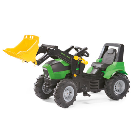 ROLLY TOYS rollyFarmtrac Deutz Agrotron 7250 TTV avec pelle de chargement rollyTrac et pneus gonflables 710133
