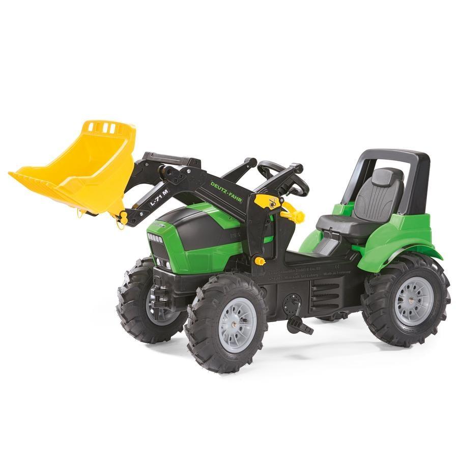 ROLLY TOYS rollyFarmtrac Deutz Agrotron Traktor 7250 TTV s rollyTrac Nakládačem a nafukovacími koly 710133