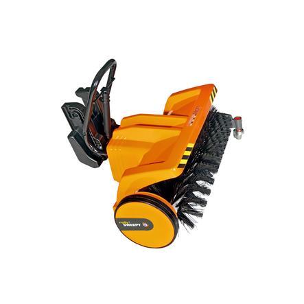 ROLLY TOYS spazzola frontale per trattore arancio 409723