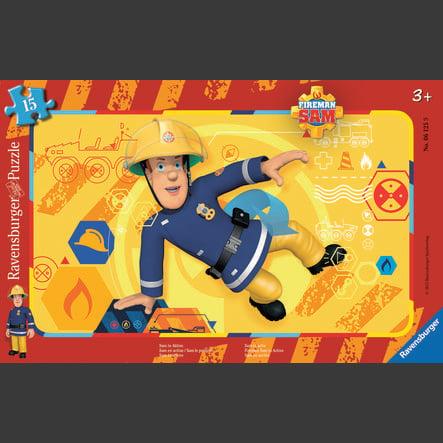 RAVENSBURGER Puzzel - Brandweerman Sam - Sam in actie, 15 stukjes