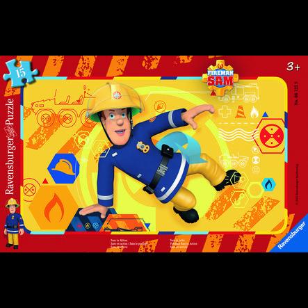 Ravensburger ramme puslespill - brannmann Sam: Sam i aksjon, 15 stykker