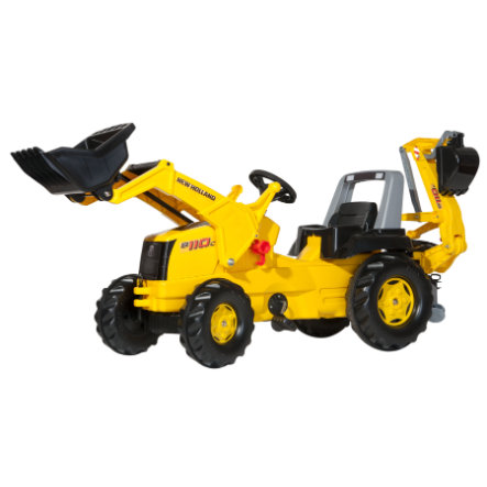 ROLLY TOYS rollyJunior NH mit rollyJunior Lader und rollyBackhoe 813117