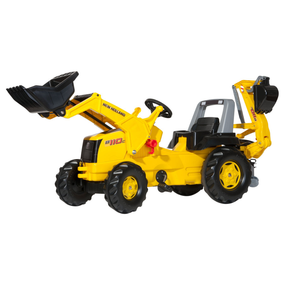 ROLLY TOYS rollyJunior NH avec pelle de chargement rollyJunior et rollyBackhoe 813117