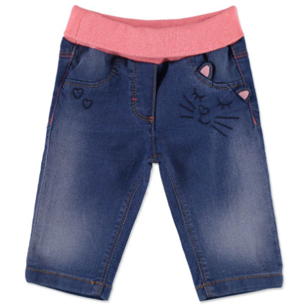 ESPRIT Girls Spodnie jeans washed denim